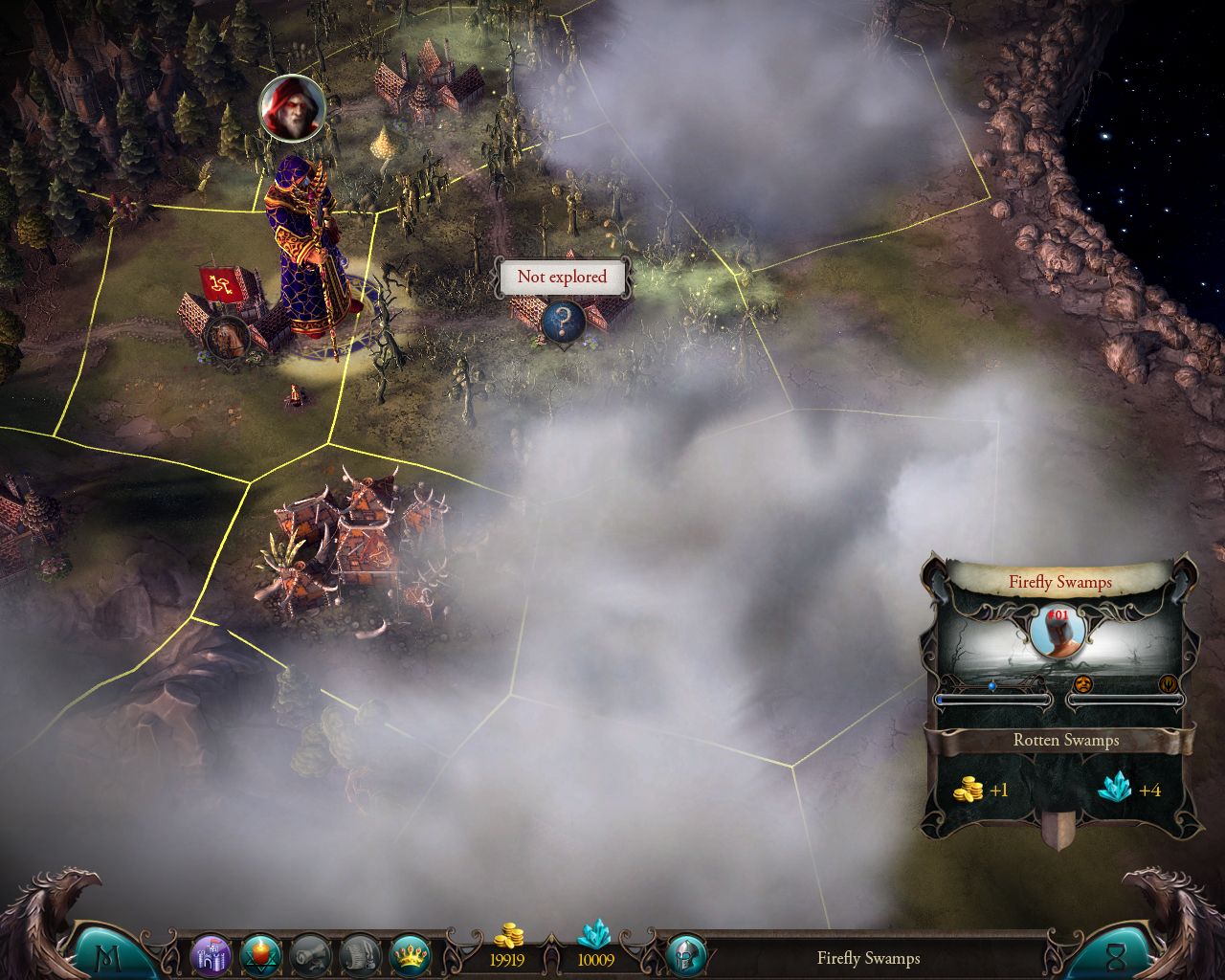 STRATEGY Map and Exploration Fog of War Masters of the Broken World